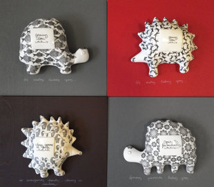 Wall decors - hedgehogs and turtles