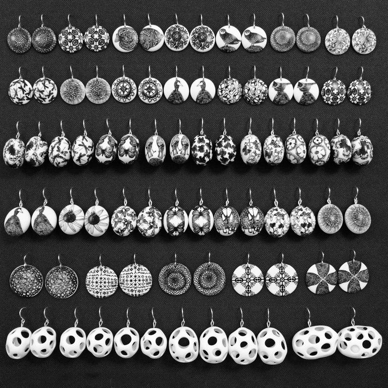 Bone China Earrings