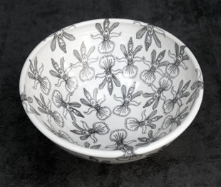 Porcelāna bļoda salātiem