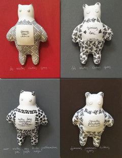 sienas dekori - kaķi, lāči